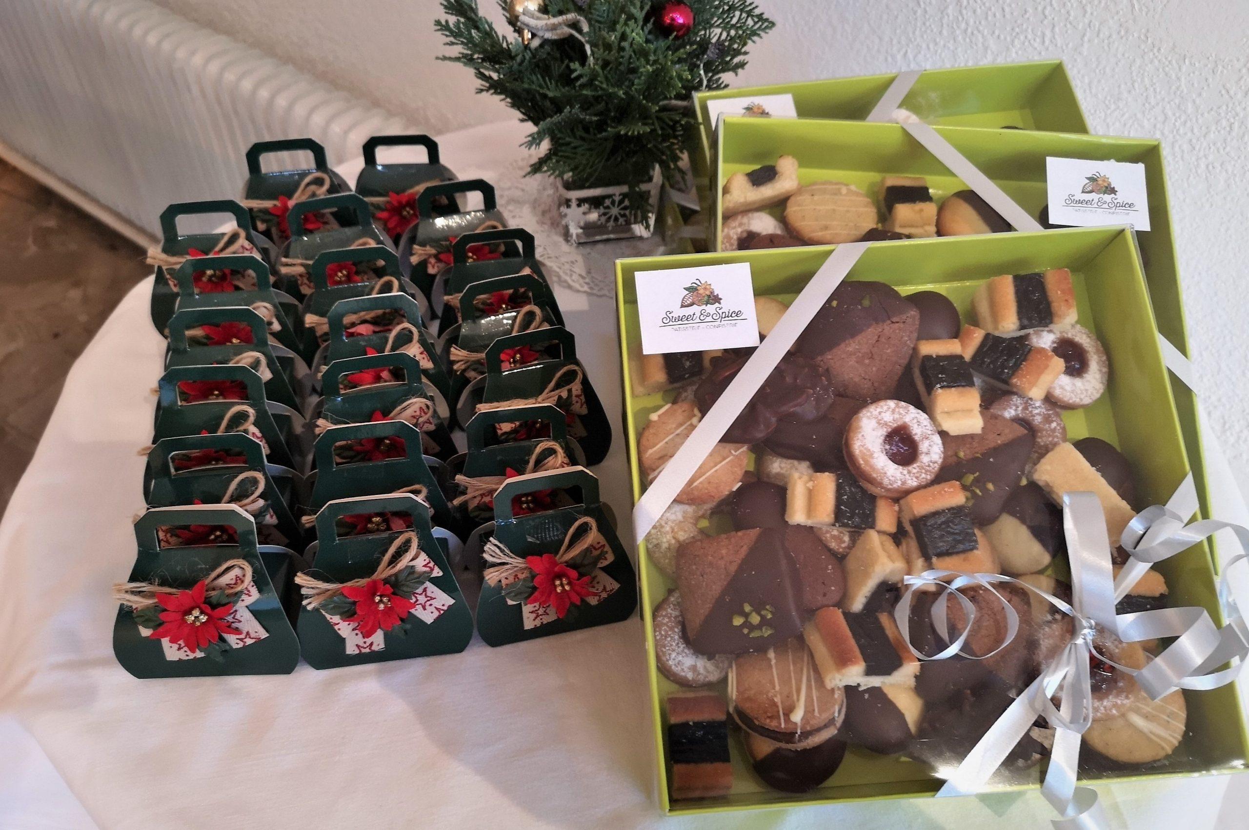 Weihnachtsbäckerei und Weihnachtspralinen
